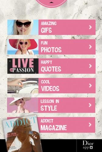 Dior-Addict-app-menu