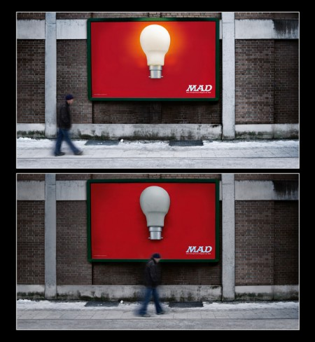 MAD Magazine: Light bulb