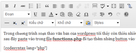 button cho wordpress