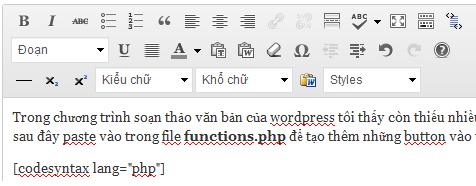 button cho wordpress