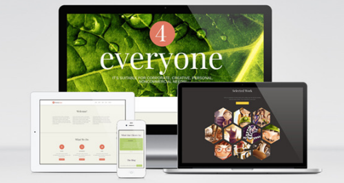 4Everyone – One Page Retina HTML Template