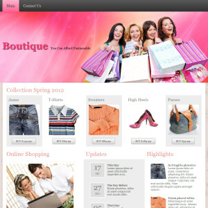 Boutique Theme WordPress Free