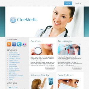 CleeMedic free wordpress theme