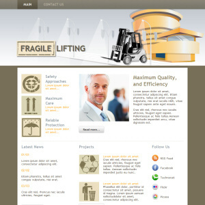 Fragile Lifting wordpress theme