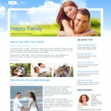 Happy Family free wordpress theme