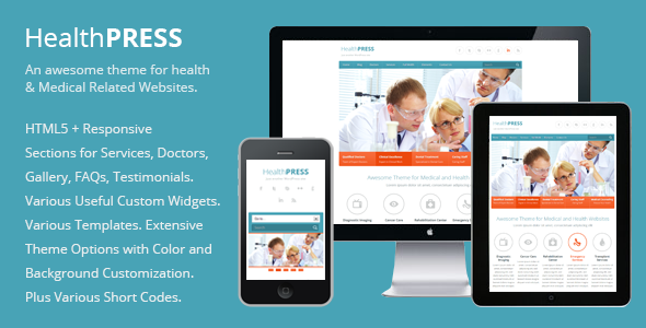 Health and Medical WordPress Theme