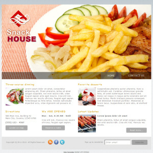 Snack House wordpress theme