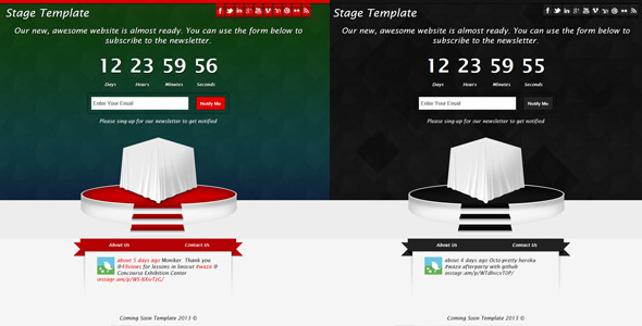 Stage – Responsive Coming Soon Template