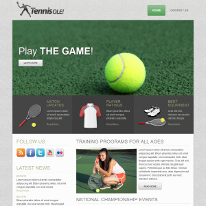Tennisole theme wordpress free