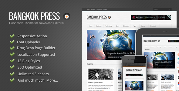 Bangkok Press – Responsive, News & Editorial Theme