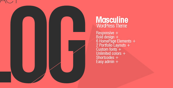 Masculine – Responsive WordPress Theme