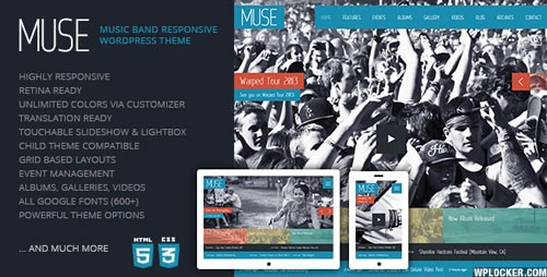 Muse Music Band Responsive WordPress Theme