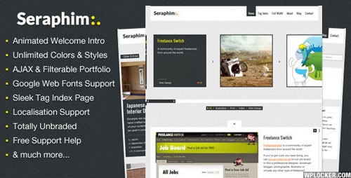 Seraphim – AJAX and Animated Portfolio Theme