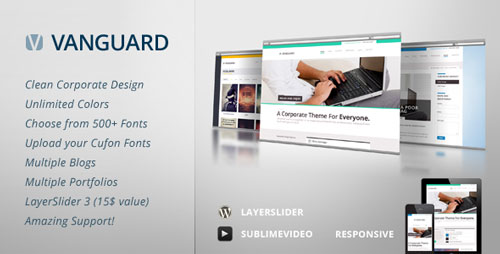 Vanguard Business & Portfolio WordPress Theme